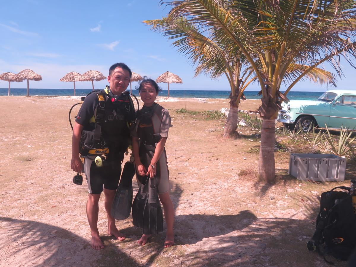 scuba diving coral beach